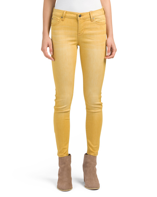 Juniors Garment Wash Skinny Jeans