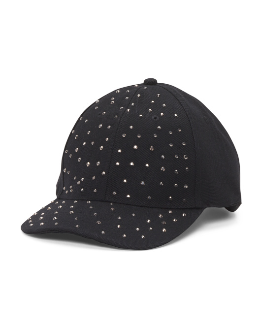 Twill Studded Baseball Cap