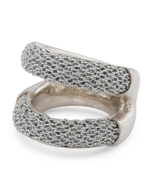 Made In Bali Sterling Silver And Mesh Ring