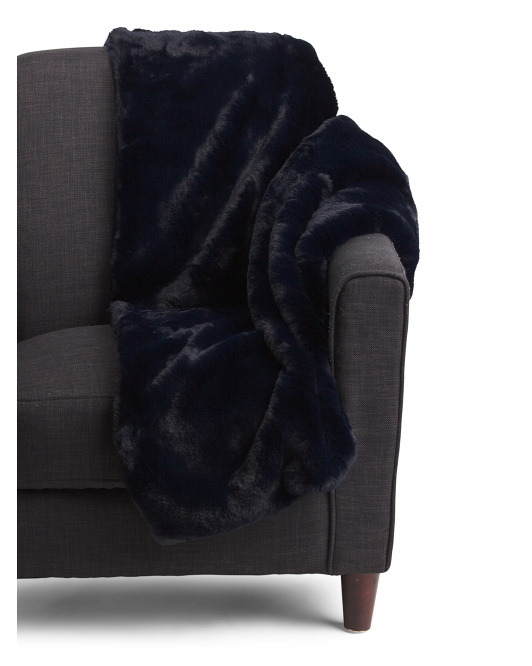 Luxe Bear Faux Fur Throw With Gift Box