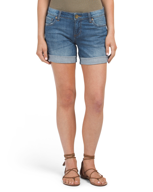 Petite Catherine Boyfriend Roll Up Shorts