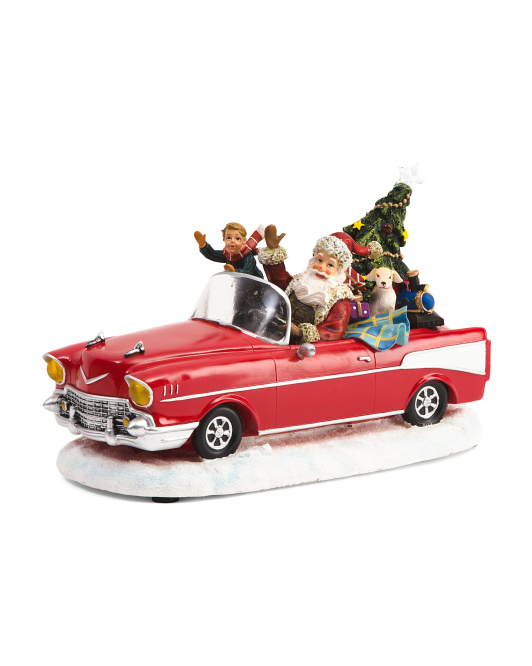12in Musical Santa In Car