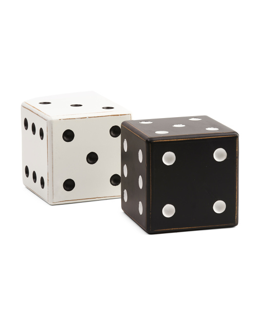 Set Of 2 Tabletop Dice Decor