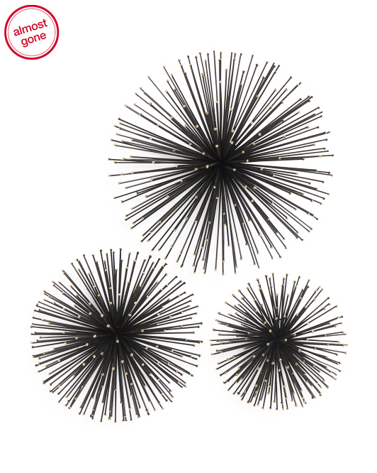 Set Of 3 Metal Wall Bursts