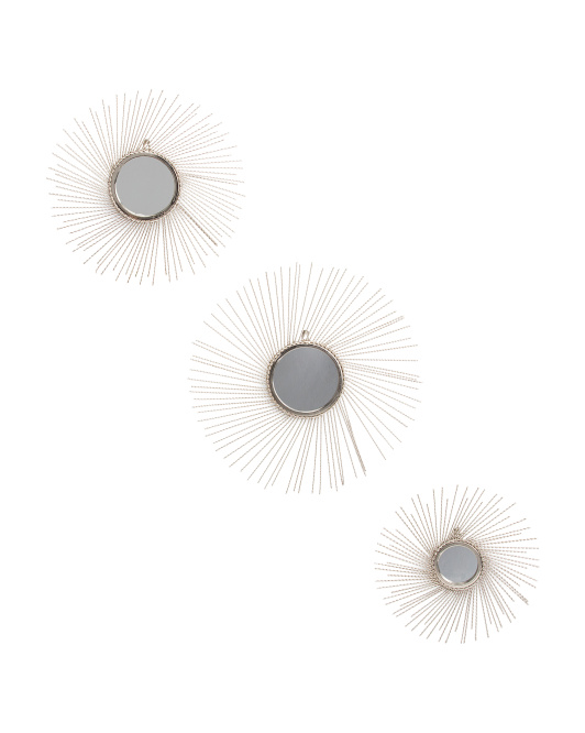 Set Of 3 Mirror Wall Bursts