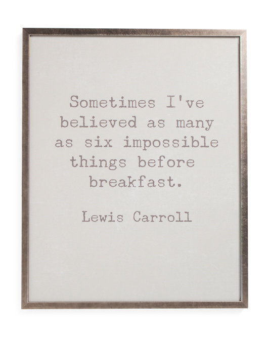24x30 Impossible Quote Framed Wall Art