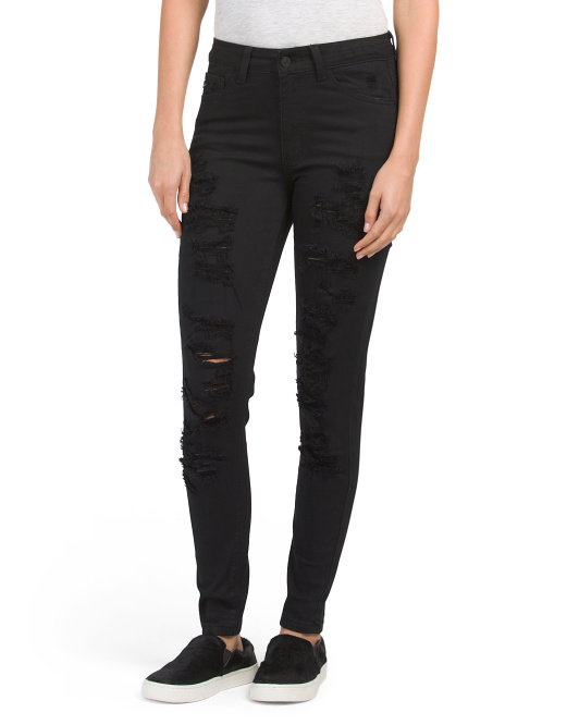 Juniors Full Front Destructed Jeans