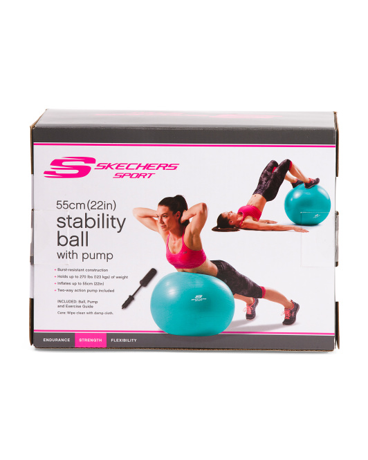 55cm Stability Ball With Pump