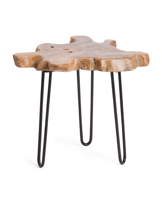 Made In Indonesia Teak Accent Table