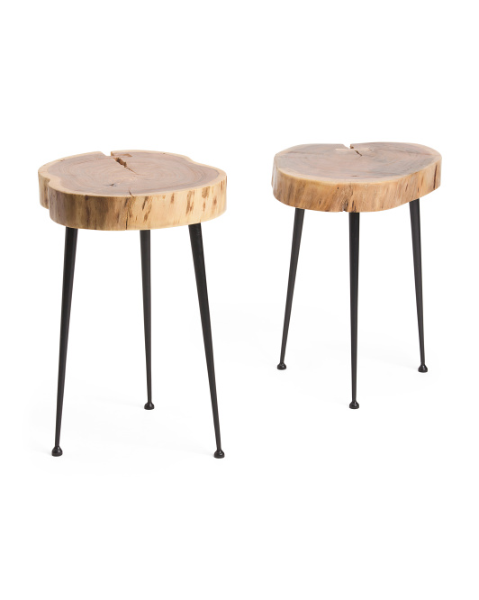 Set Of 2 Wood Tables