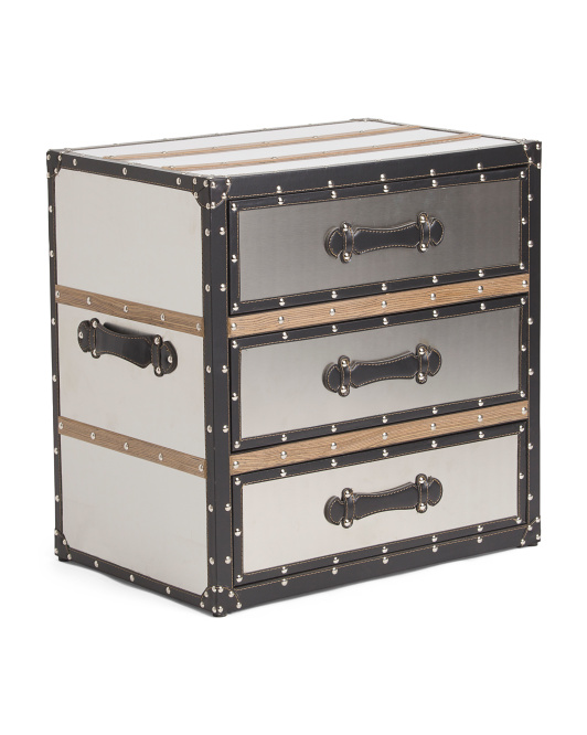 3 Drawer Stainless Steel Trunk
