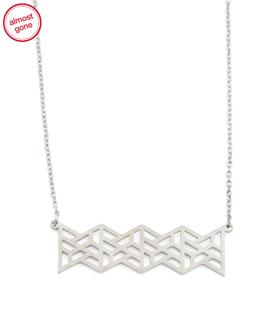 Designed In UK Geo Triangle Necklace