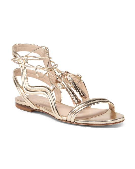 Made In Italy Ghille Grecian Leather Sandals