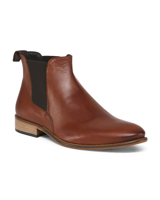 Men's Made In Italy Chelsea Leather Boots