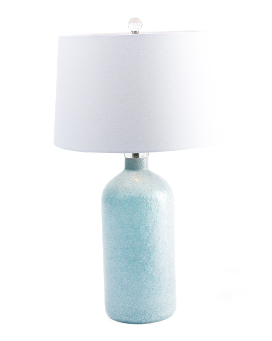 Art Glass Dimpled Table Lamp