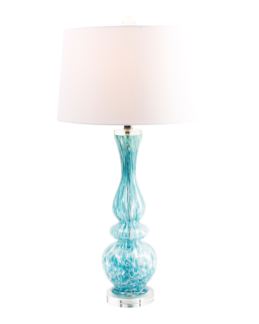 Art Glass & Crystal Accent Lamp