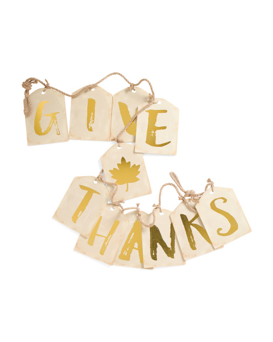6ft Give Thanks Garland Decor
