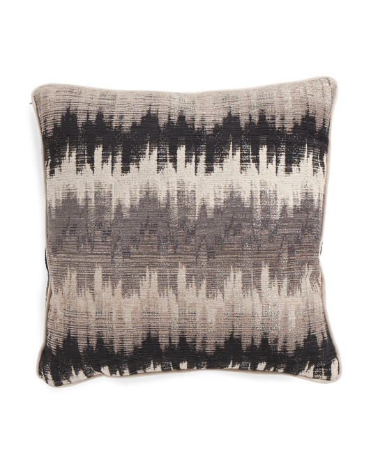 20x20 Haiku Moss Fringe Pillow