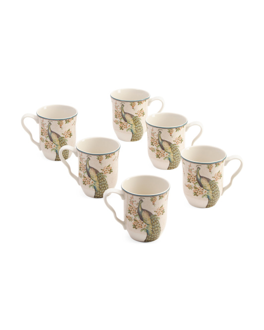 6pc Empress Garden Mug Set