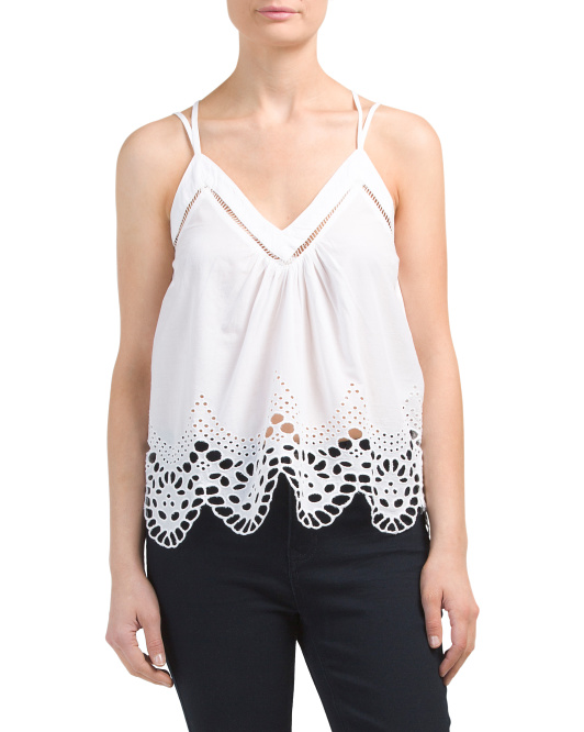 Lily Strappy Eyelet Top