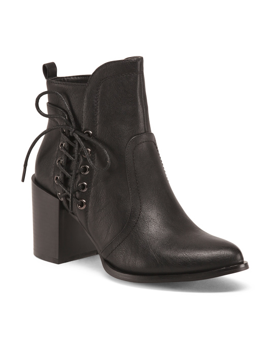 Booties With Side Lacing