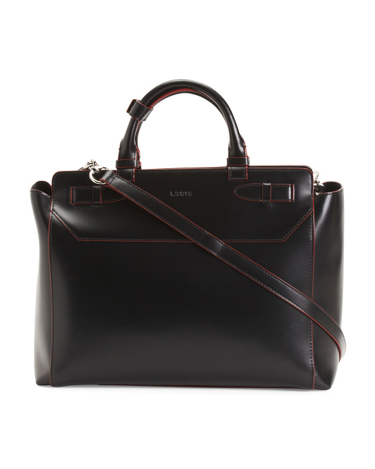 Audrey Convertible Leather Satchel