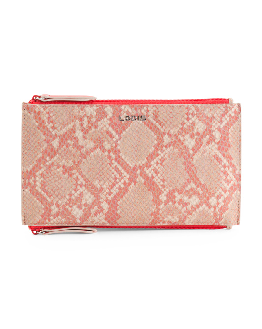 Kate Lani Leather Zip Pouch