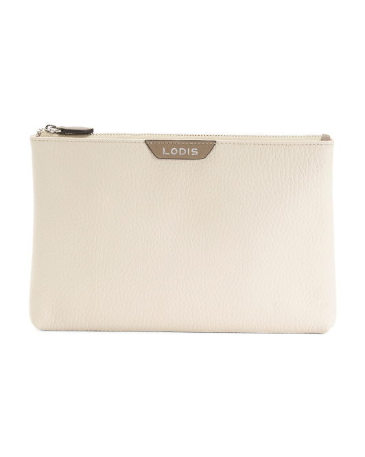 Valencia Leather Flat Pouch