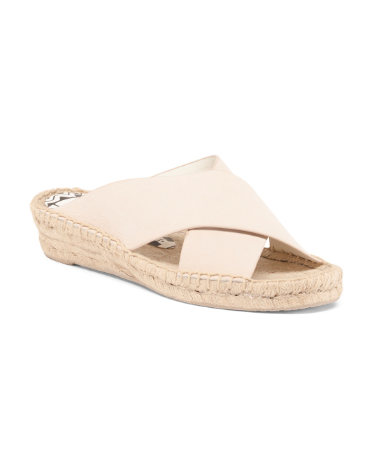 Espadrille Leather Slide Sandals