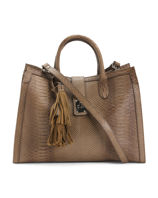 Made In Italy Oversized Leather Tote