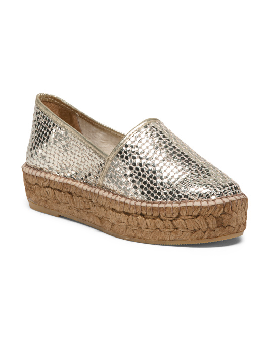 Made In Spain Sequin Espadrilles