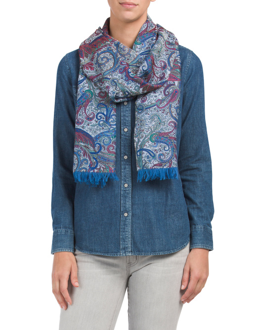 Made In Italy Paisley Scarf