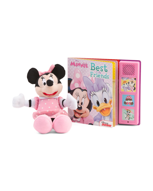Minnie Best Friends Book And Plush Box