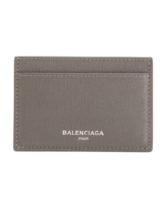 Made In Italy Essential Calfskin Leather Single Card Holder