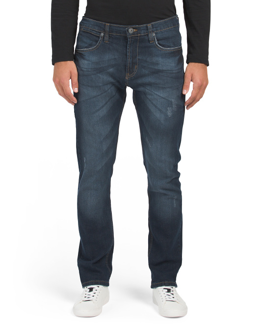 Lightly Distressed Stretch Jeans