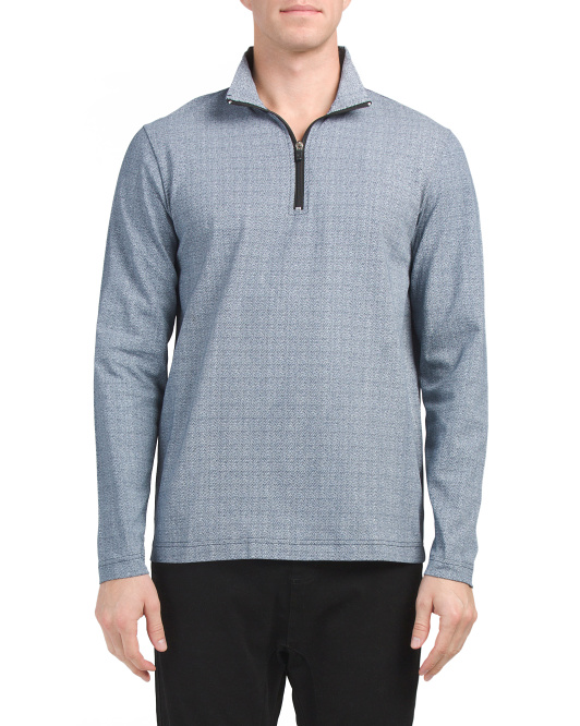 Herringbone Quarter Zip Top