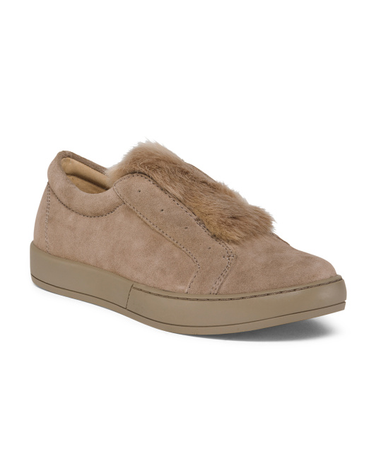 Suede Faux Fur Sneakers