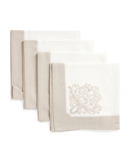 Made In India 4pc L Atelier Napkins