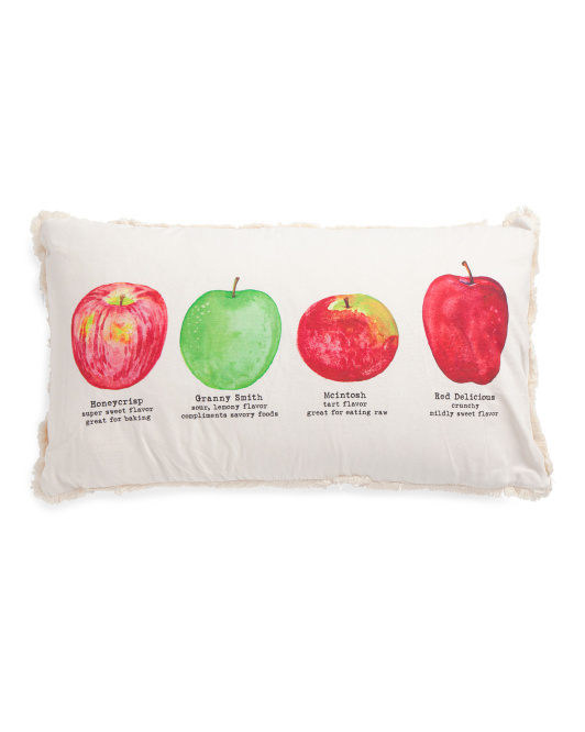 14x24 Types Of Apples Harvest Pillow
