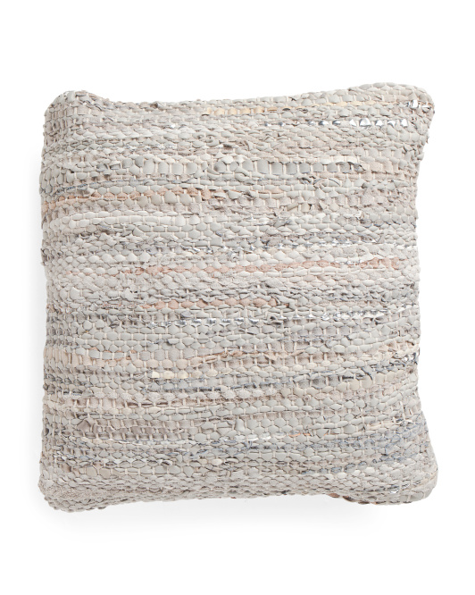 18x18 Textured Metallic Pillow