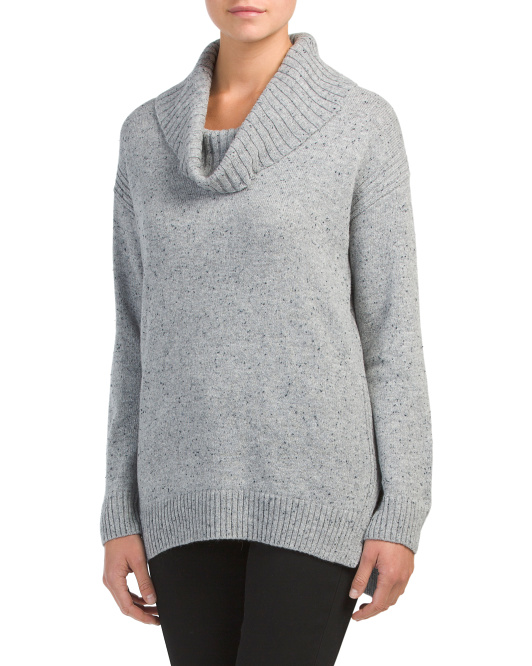 Marled Cowl Neck Sweater