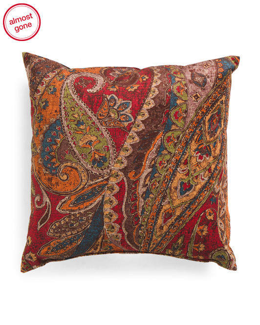 Made In USA 22x22 Canaletto Velvet Pillow