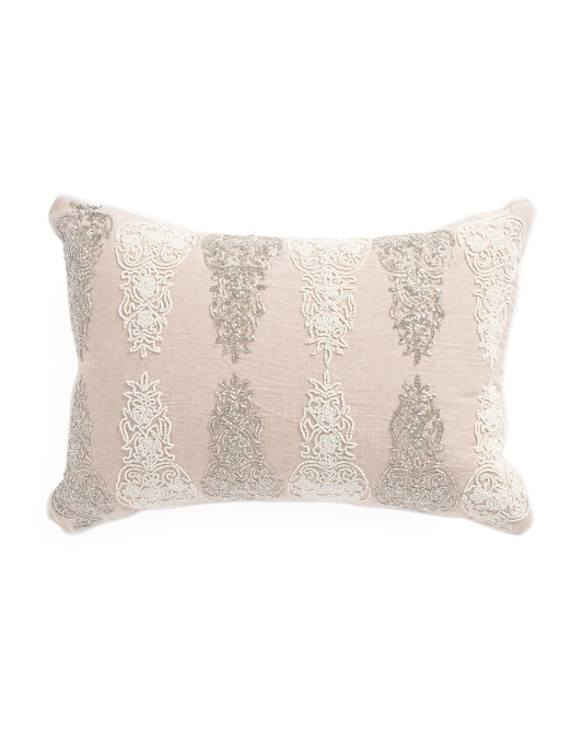 Made In India 14x20 Damask Pillow