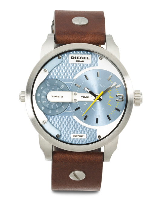 Men's Mini Daddy Leather Strap Watch