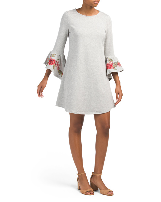 Dress With Hi-lo Bell Sleeves