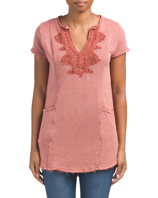 Juniors Embroidered Tunic