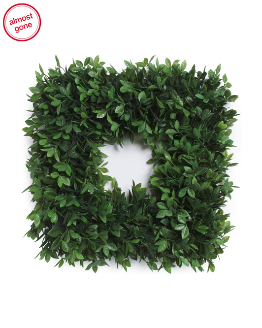 22in Square Bay Leaves Wreath