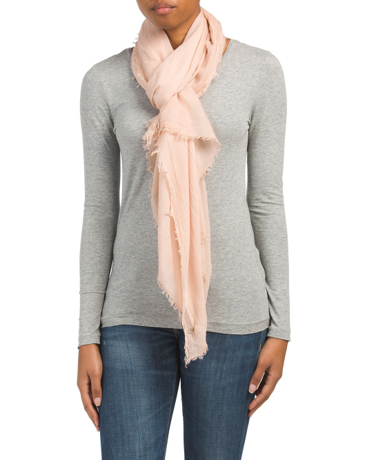 Made In Italy Blush Scarf