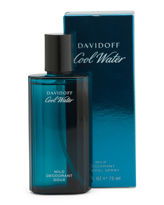 Men's 2.5oz Cool Water Deodorant Spray