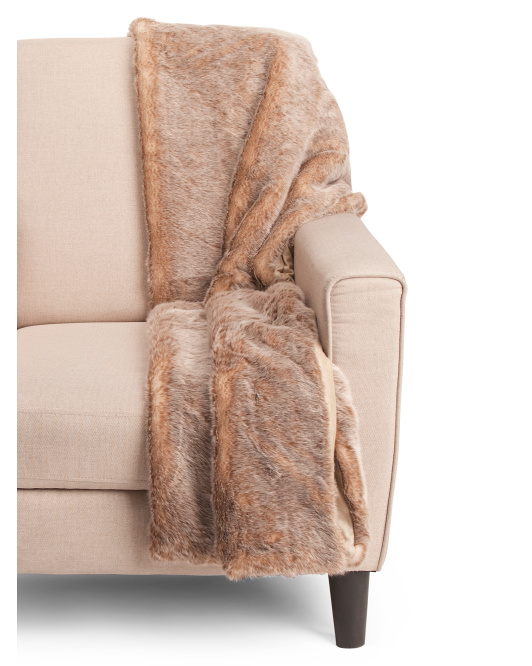 Faux Squirrel Fur Throw